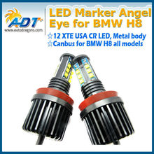 2x E92 H8 LED 120W Angel Eye Marker CR Chip LED White for E87 E82 E92 E93 E90