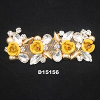new arrival guangzhou fashion design shoes accessories charm rhinestone metal and crystal