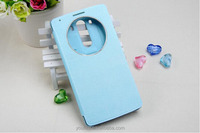 Cheapest China mobile phone case open window flip cover case for LG G3