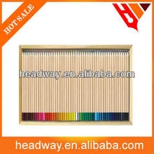 48pcs new promotion natural wooden color pencil in wooden case