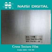 Cross Texture Cold Lamination PVC Film for covering and protecting photo