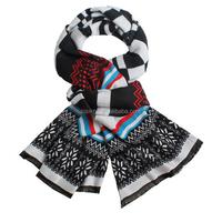 Large Cashmere Like Stripe Pattern Pashmina Stole Shawl Wrap
