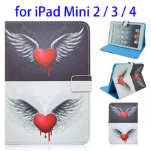 New arrivals stand Leather Case for iPad mini 2 3 4 leather case