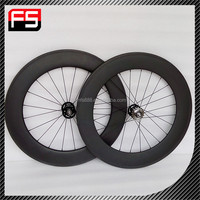 2015 Chinese manufacturer direct sell carbon fixed bike wheel, high quality 88mm fixed gear for sale