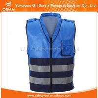 Children blue reflective safety vest