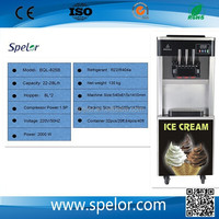 Gold supplier China instant ice cream rolls machine 3 flavors