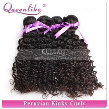Afro hair extension virgin peruvian tight curly hair