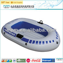 Walmart supplier durable pvc inflatable boat with paddles