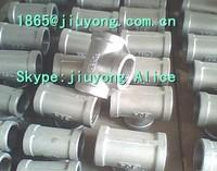 stainless steel pipe fitting NPT BSP DIN2999 thread elbows tees nipples couplings 4inch fittings