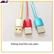Cable manufacturer provide newest flat transparent colorful driver download usb data cable