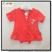 BKD peinado de algodón de bebé vestido de traje