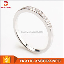 fashion pave setting cz stone hot sell brass ring for men and women