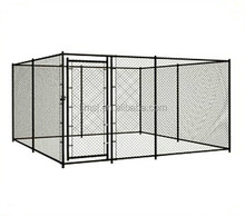 Pvc coated 3x3 square wire mesh fence outside dog kennels