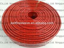 tubo aislante trenzado de fibra de vidrio barniz silicona