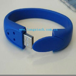 Silicone Bracelet/Wristband Mini 2gb usb Flash Drive
