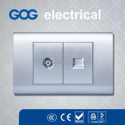 American TV Socket TV Satellite Wall Socket,TEL Electrical Sockets,Date Plug Sockets