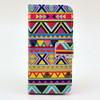 National culture patterns Pu wallet leather phone case with card holder for iphone 5 5s