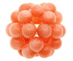 Gets.com natural coral austrian crystal ball drop earring