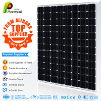 Powerwell Solar 270W Mono With CE/IEC/TUV/ISO/INMETRO/CEC Approval Standard Top Supplier from Alibaba Solar panel