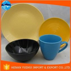 stoneware colorful Oriental round dinner set