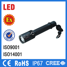 IP67 rechargeable battery hand lamps rechargeable explosion proof flashlight aluminium led torch light