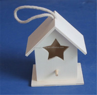 small new unfinished wooden craft bird house wholesale