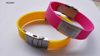 scannable qr code silicone rubber band wristbands