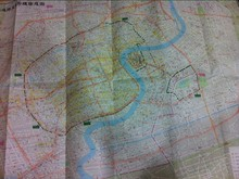 Foldable tyvek map with new style
