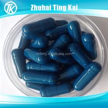 Gelatin hard blue size 00 capsule shell
