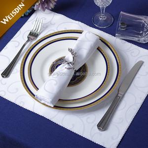العرف فندق مطعم عشاء الزفاف القماش منديل الجاكار سبن بوليستر المناديل الجدول الكتان