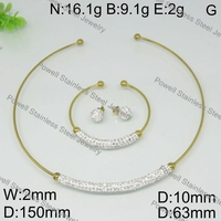 Charming stainless steel hot items gifts gold plated jewelry set for party
