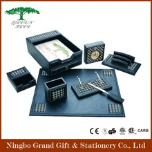 Deluxe Leather Office Desk Stationery Gift Set