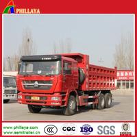 Sinotruck Howo dump truck load for gravel/standard hydraulic cylinder dump truck dimension