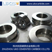 polished tungsten carbide flow control round ring for oil processing
