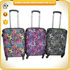 durable material PP super light weight suitcase surface printing cloth trolley suitcase with TSA lock travel suitcase