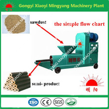 Screw type with no any binder charcoal wood briquette making machine
