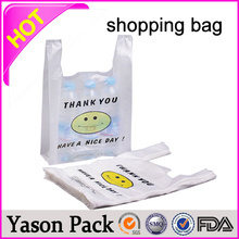 Yason carry-home packing for shopping china ldpe shopping patch hanlde bag advertising foldable shopping bag