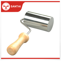 High-Quality wooden Handle Stainless Steel Rolling Pin
