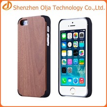 Olja hot sell pc+wood back cover case for iphone 6