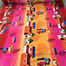 Flannel blanket 100% Polyester fabric Printed Flowers&Love patterns