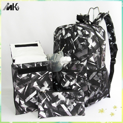 Newest lunch bread Insulated Lunch Bag,Wallet, water bottle, sports backpack of 4 pcs outdoor picnic bag set