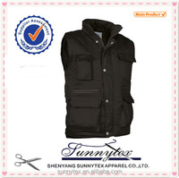 Sunnytex Men Clothing Winter Multi Pocket Cotton Padded Vest