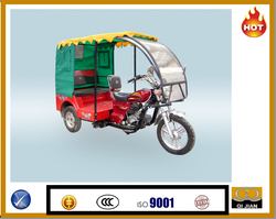 Electrical powerful taxi tricycle with canvas and windshiled