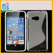 Eco Friendly Product S Line Soft TPU Gel Back Case For Microsoft Lumia 550 Cover For Nokia