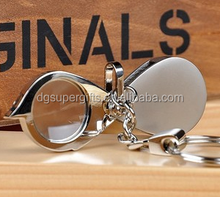 Magnifying glass key ring Pearl nickel magnifying glass key ring The bird a magnifying glass key buckles