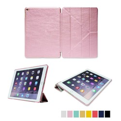 2015 Hot&Factory price Wake and sleep function TPU and PU leather back cover for ipad case protective case