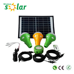 Best quality product CE 3W portable led light solar power kit with LED lights