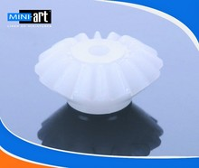 0.5 modulus plastic Umbrella shape bevel gear spindle gear 16 tooth aperture: 2MM
