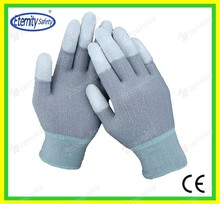 Welcome customer coated gloves Thoughtful good service concept safety glove