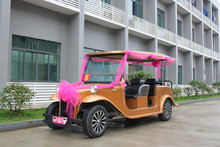 special design 6 Seats purple electric classic car/vintage for wedding